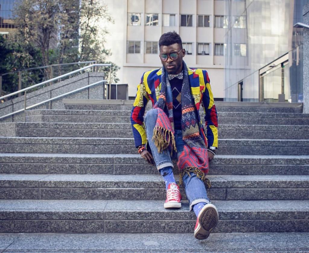 Jason Kusimo of Afrisager in Dollysam Color Me Badd Blazer 5
