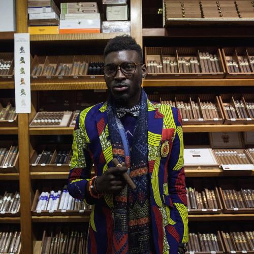 Jason Kusimo of Afrisager in Dollysam Color Me Badd Blazer 6