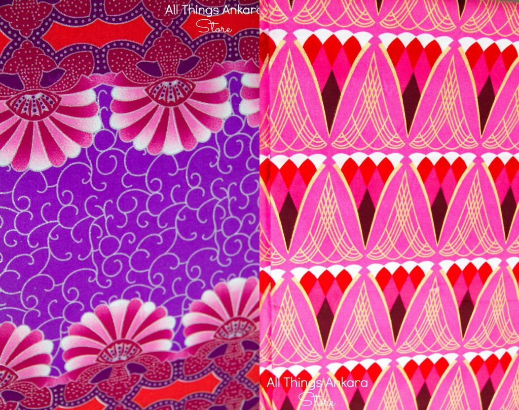 Pink Red White Gold Glitter Shining Sand Wax Prints & Violet Fushia Glitter Shining Sand Wax Prints