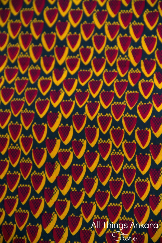 Red Yellow & Black Wedge Half Wax Prints