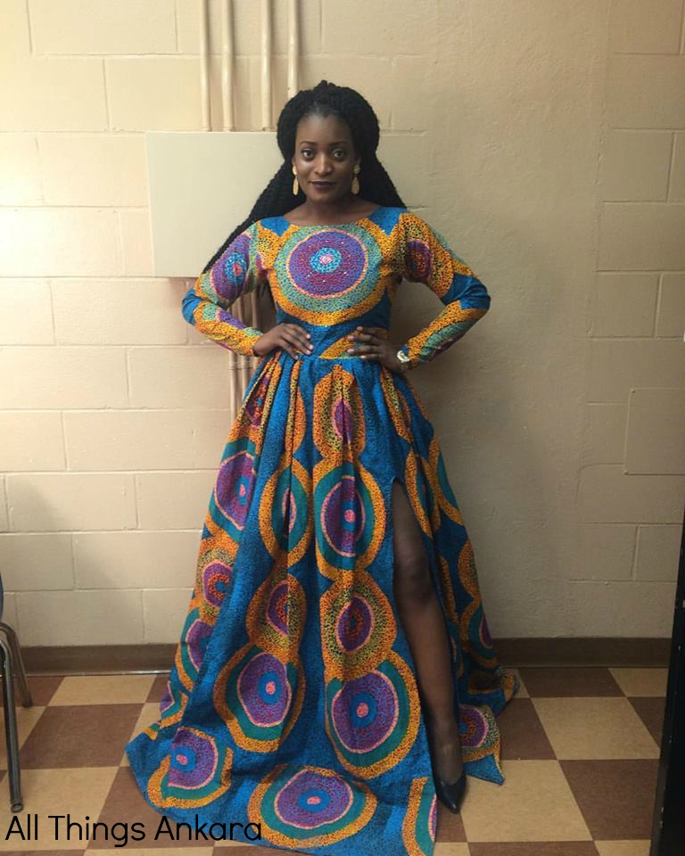 Yvonne Ben of The Kaleidoscopian in Custom Ofuure Gown Dress for Laurentian University's WUSC Gala