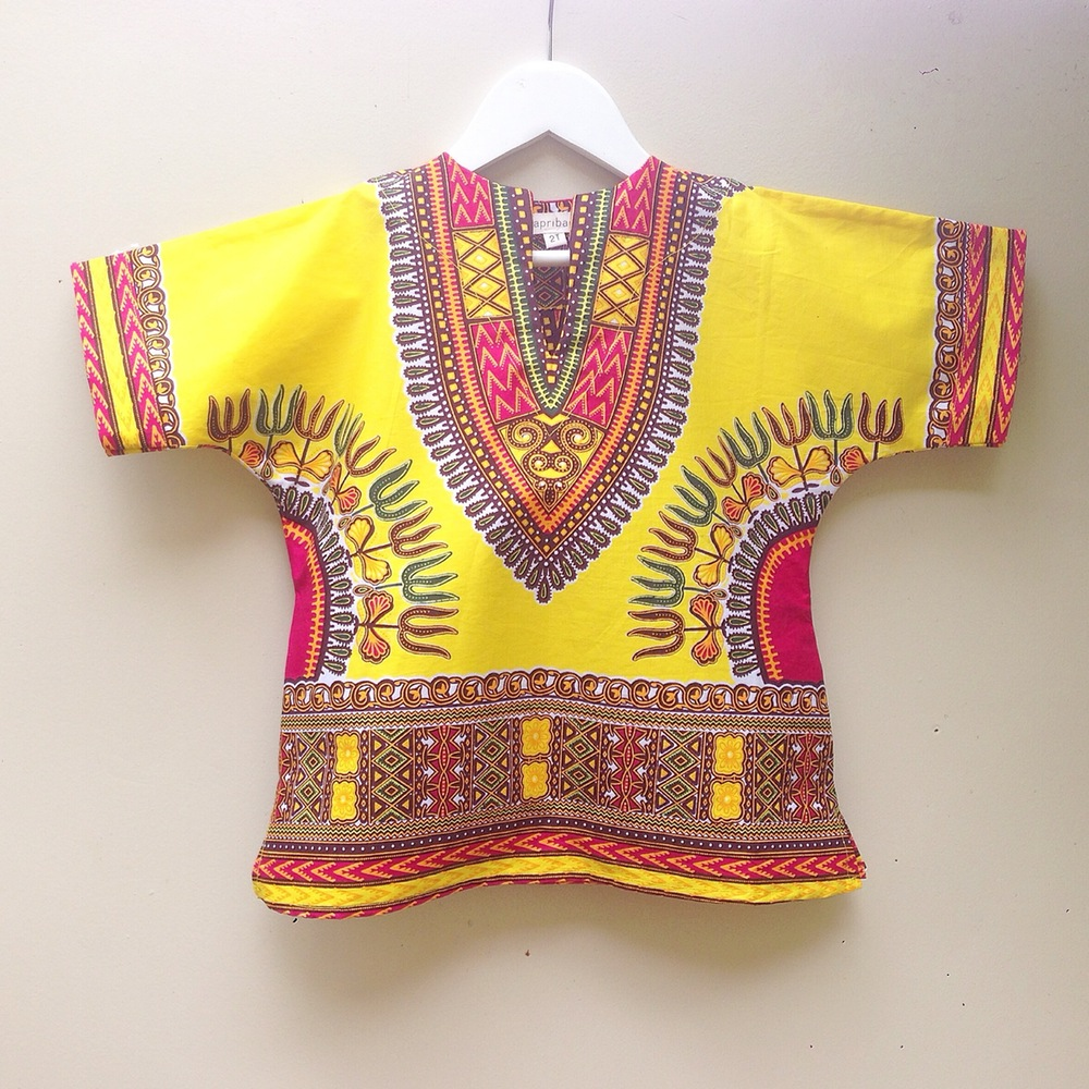 Bapribap's Tunic in Yellow Dashiki 2