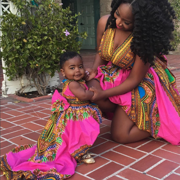 Miss Dunnie O and Baby Zion in Red Star Collective Dashiki Dresses for International Women's Day 2016 1