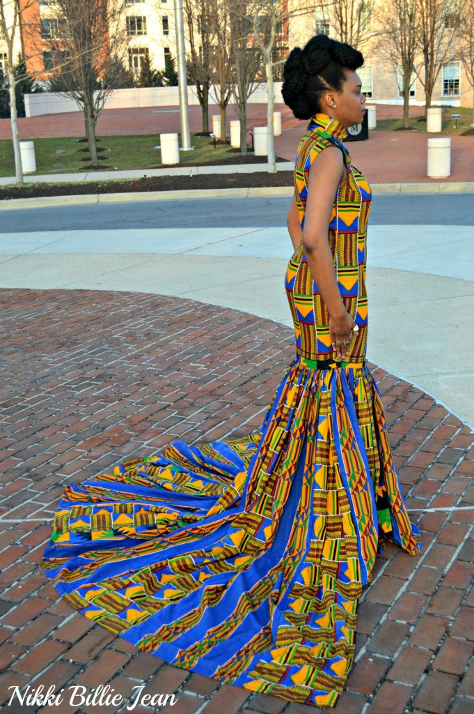 Nikki Billie Jean's Mixed Kente Print Gown for the Exquisite Ghana Independence Ball 2016 2