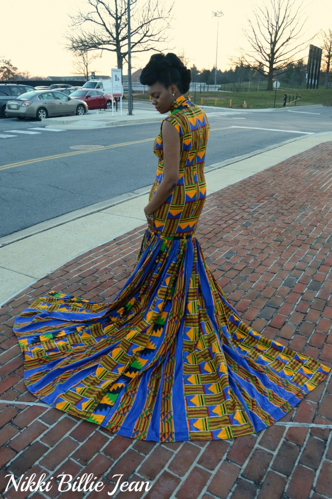Nikki Billie Jean's Mixed Kente Print Gown for the Exquisite Ghana Independence Ball 2016 3