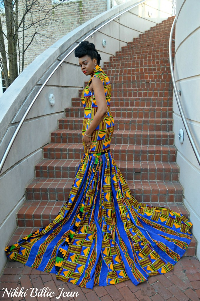Nikki Billie Jean's Mixed Kente Print Gown for the Exquisite Ghana Independence Ball 2016 7