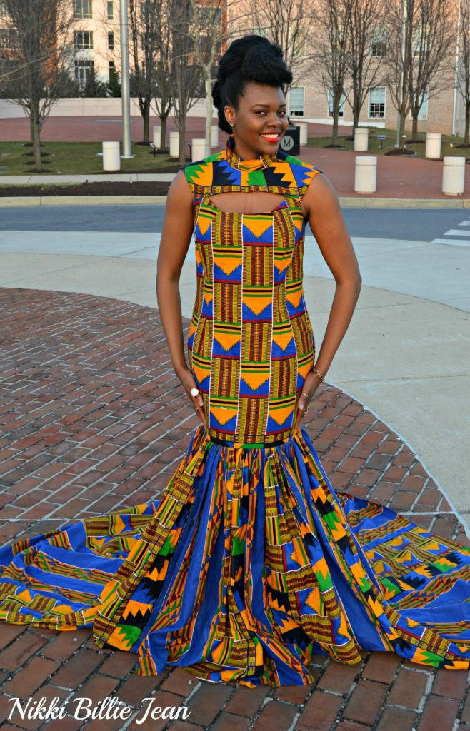 Nikki Billie Jean's Mixed Kente Print Gown for the Exquisite Ghana Independence Ball 2016 8