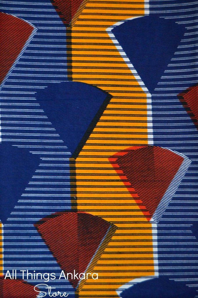Blue Red Orange Picks Wax Prints