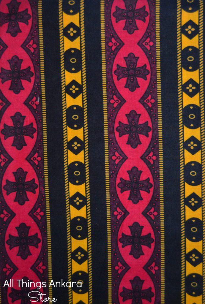 Red Yellow Black Geometric Wax Prints
