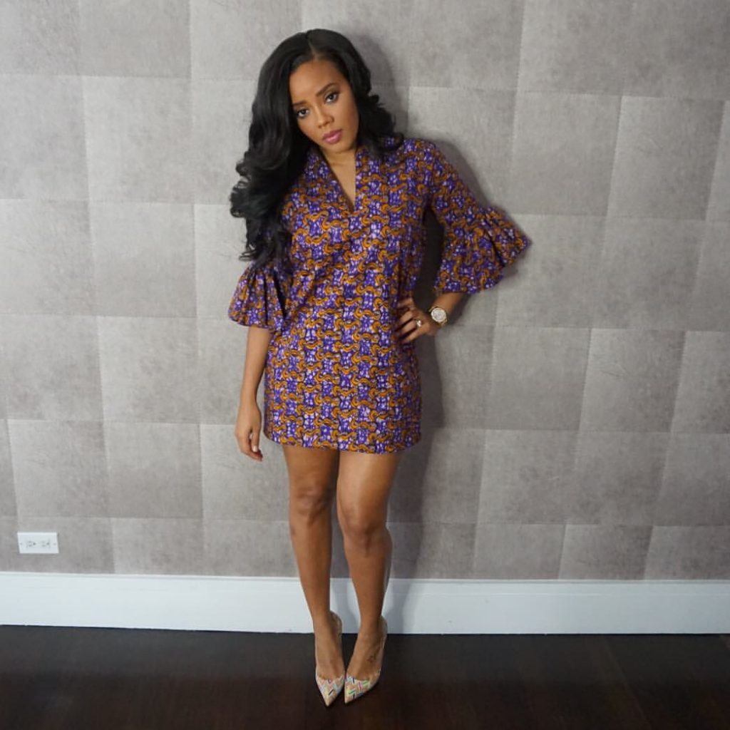 Angela Simmons's Purple Iconola Dress 1