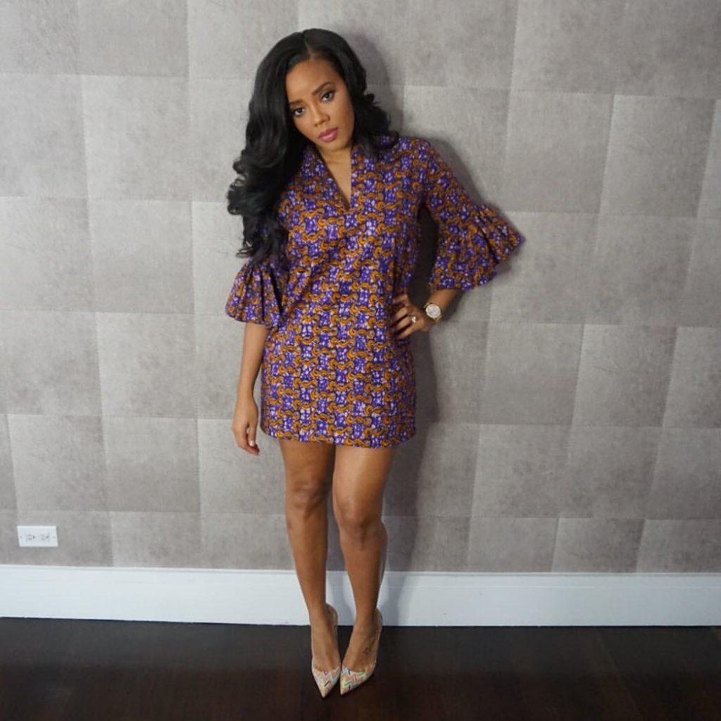 Angela Simmons's Purple Iconola Dress 1