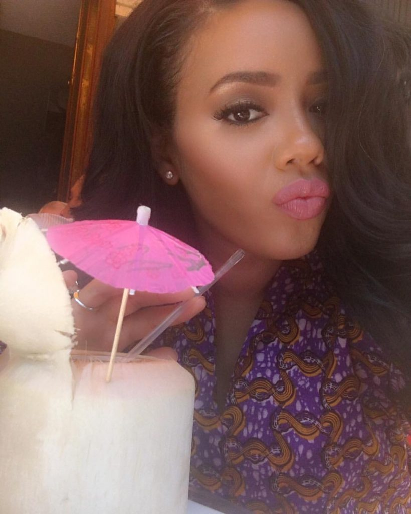 Angela Simmons's Purple Iconola Dress 2
