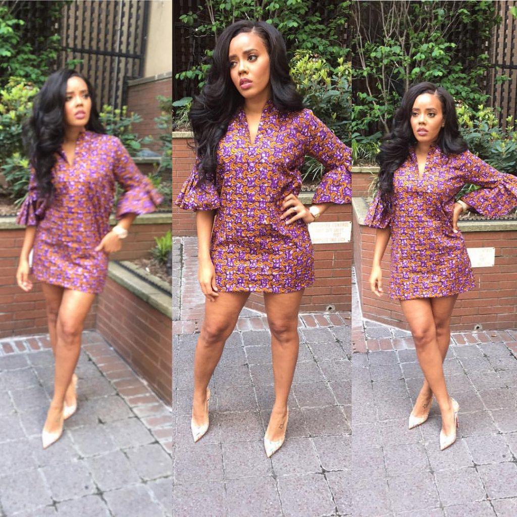 Angela Simmons's Purple Iconola Dress 3