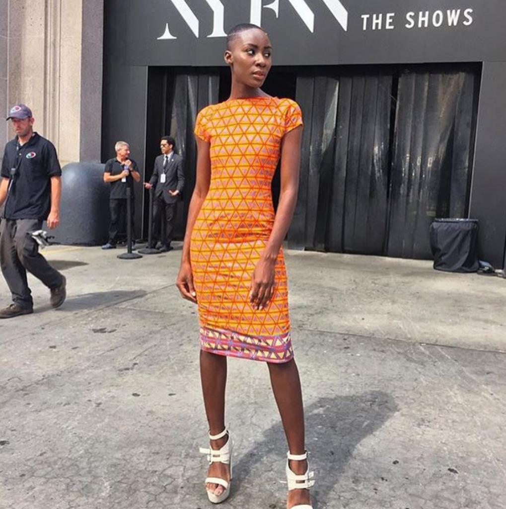 Ankara Street Style of The Day- Destiny 'Ohwawa' Owusu at New York Fashion Week 2015-Cookie's Armoire