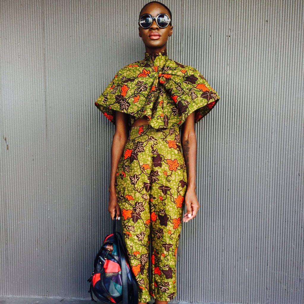 Ankara Street Style of The Day- Destiny 'Ohwawa' Owusu at New York Fashion Week 2015-JWONYEN