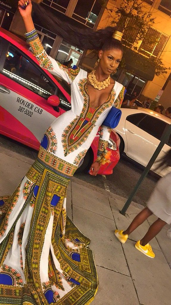 Ashley Boykin in DaJon J. Dashiki Gown 2