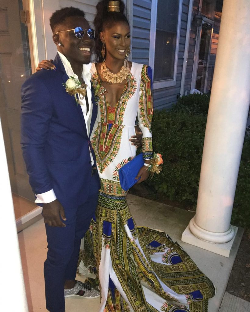 Ashley Boykin in DaJon J. Dashiki Gown 3