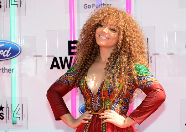 Award Show-Nadia Buari's PISTIS Dashiki Romper Gown on the BET Awards 2014 Red Carpet 2