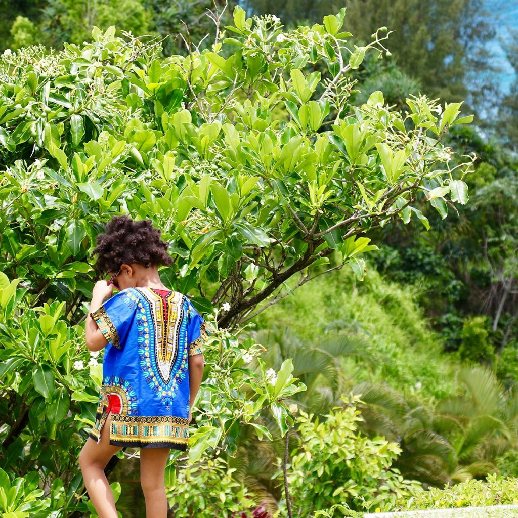 Celebrity-Blue Ivy in A Blue Dashiki 2