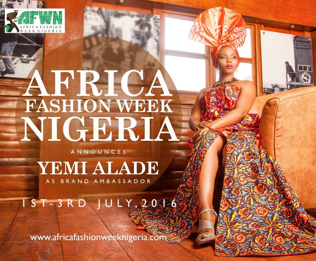 Fashion Week-Africa Fashion Week Nigeria Announces Yemi Alade as the 2016 Brand Ambassador