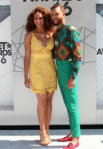 Jidenna and Rosalyn Gold-Onwude on the BET Awards 2016 Red Carpet 3