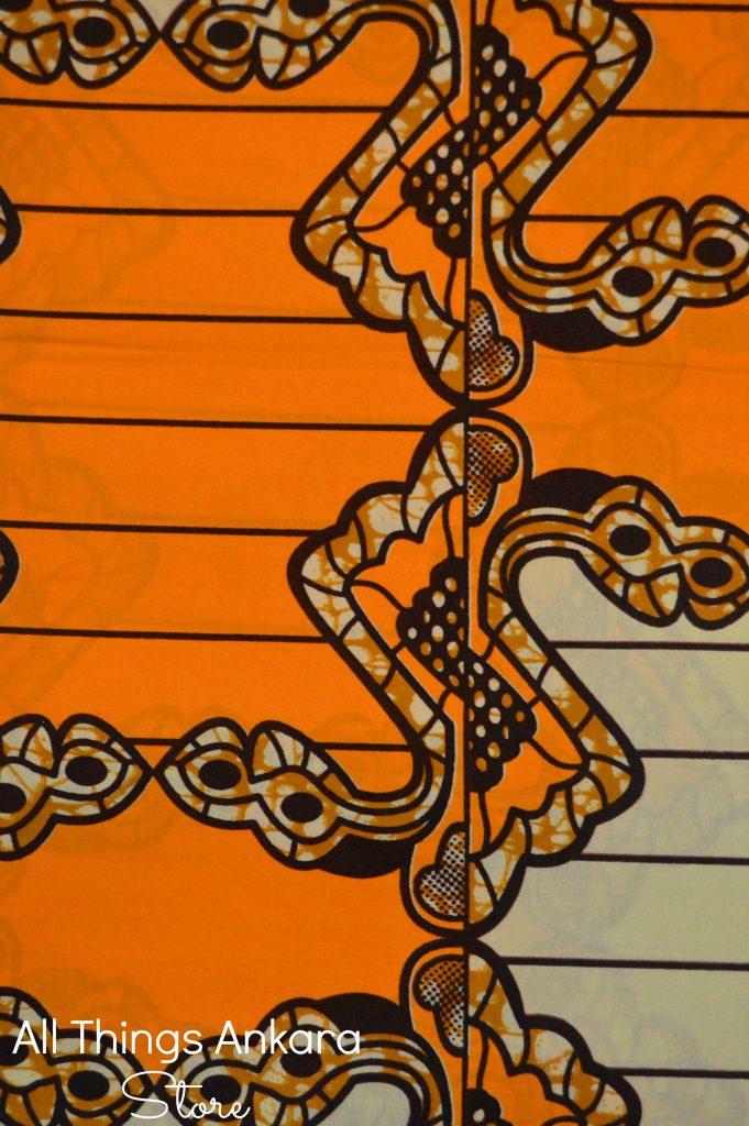 Orange Tan Layered Chained Ropes Wax Prints