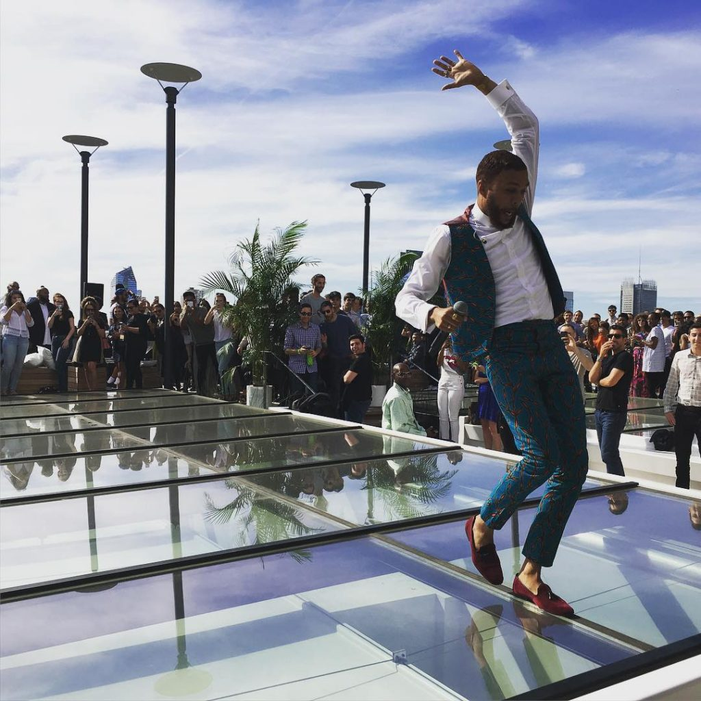 Music-Jidenna Performs New Single %22A Little Bit More%22 at Epic Records Rooftop Party 1
