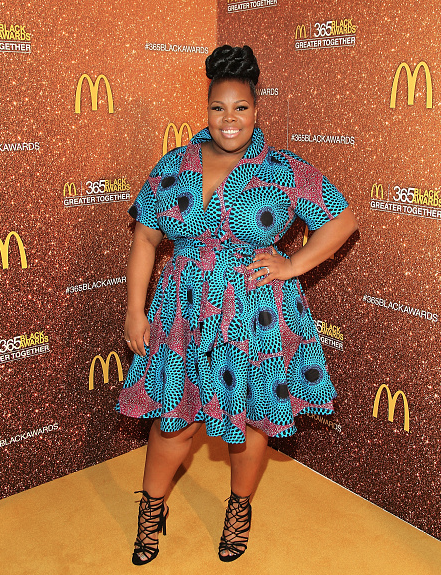 Award Show-Actress Amber Riley Attends 13th Annual McDonald's 365Black Awards in a Demestiks New York Gugu Dress 1