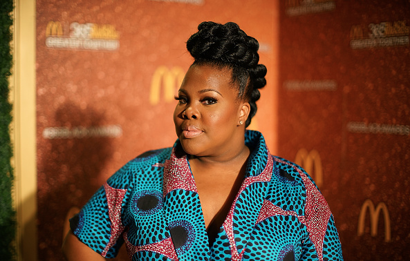 Award Show-Actress Amber Riley Attends 13th Annual McDonald's 365Black Awards in a Demestiks New York Gugu Dress 4