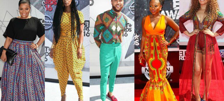Award Show-Celebrities in Ankara Print Fashion on the BET Awards Red Carpet (2014-2016)