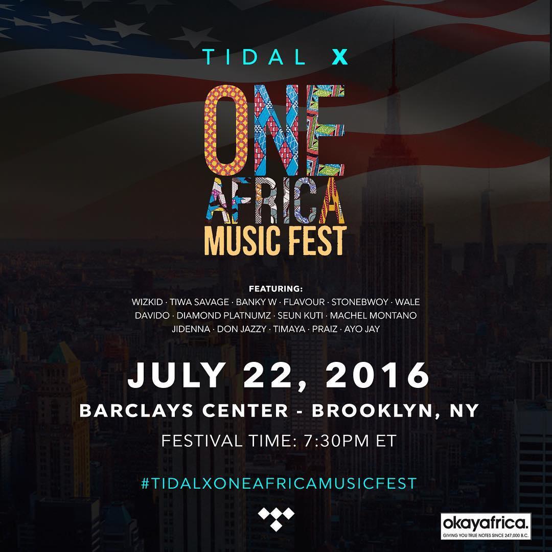 Festival-One Africa Music Fest 2016 (Live Stream by TIDAL & Okayafrica)