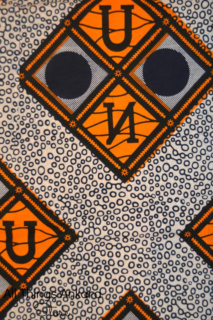 Letter Circled Grid Wax Prints 1