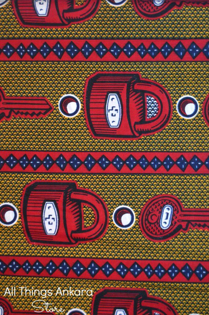 Red Blue Mustard Key and Padlock Wax Prints 1