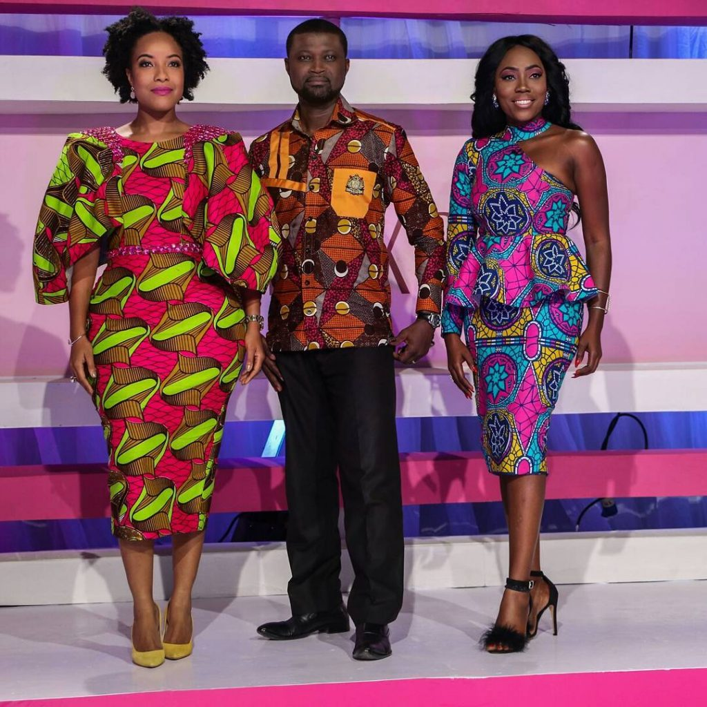 Ankara Photo of The Day-Joselyn Dumas, Karen Kane & William Asiedu, The Official Judges for the Miss Malaika Ghana Pageant 2016