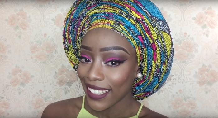 Headwrap-Ankara Gele Infinity Pleats Tutorial by Christiana's Closet