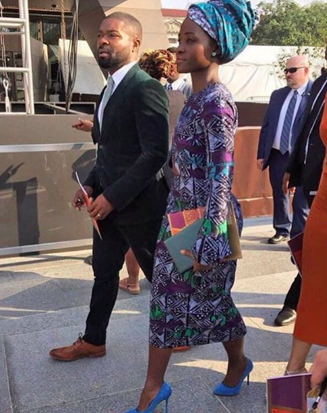 dedication-ceremony-lupita-nyongos-smithsonian-national-museum-of-african-american-history-and-culture-dedication-ceremony-maki-oh-fall-2017-adire-camouflage-dress-1