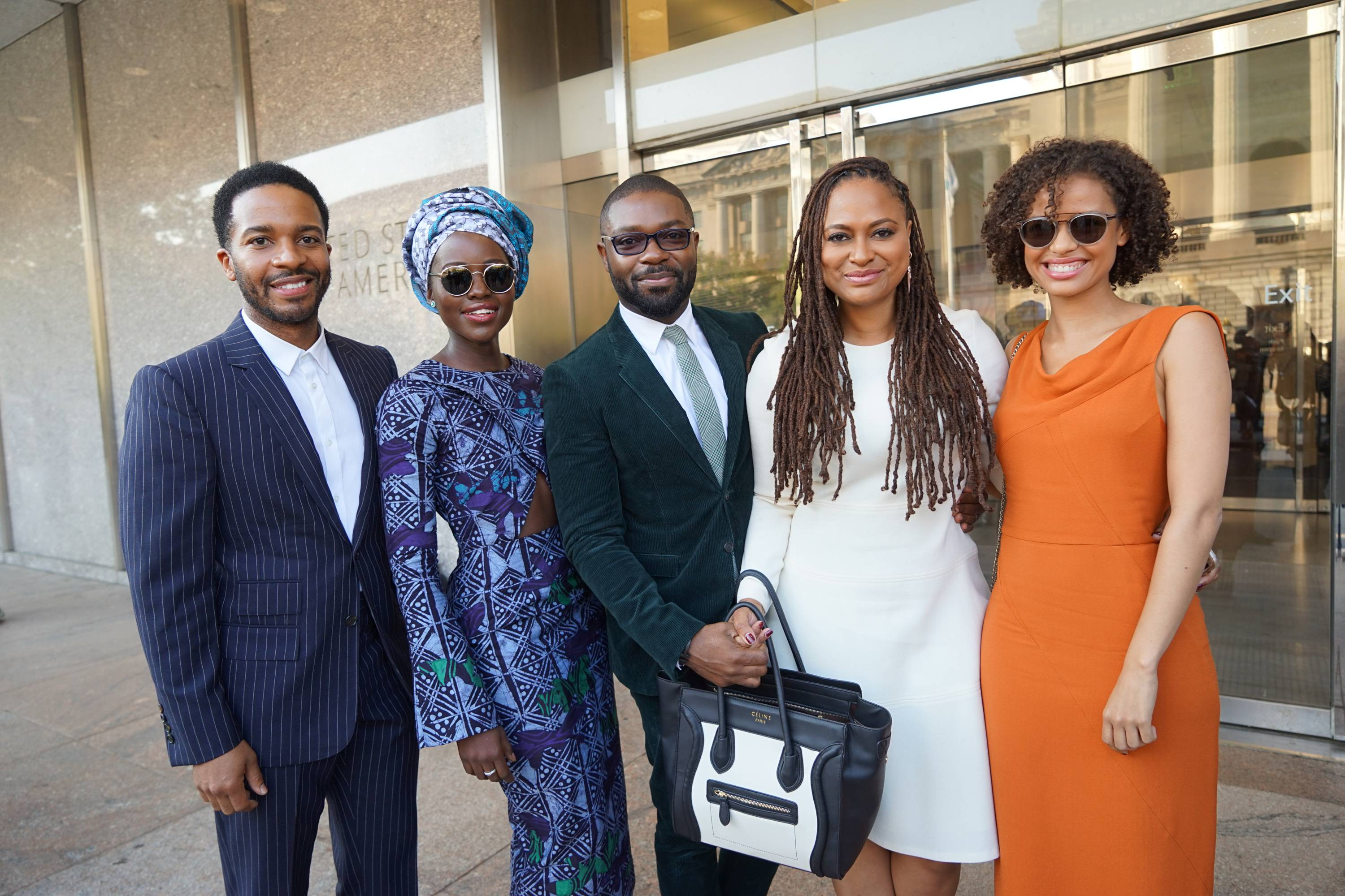 dedication-ceremony-lupita-nyongos-smithsonian-national-museum-of-african-american-history-and-culture-dedication-ceremony-maki-oh-fall-2017-adire-camouflage-dress-2