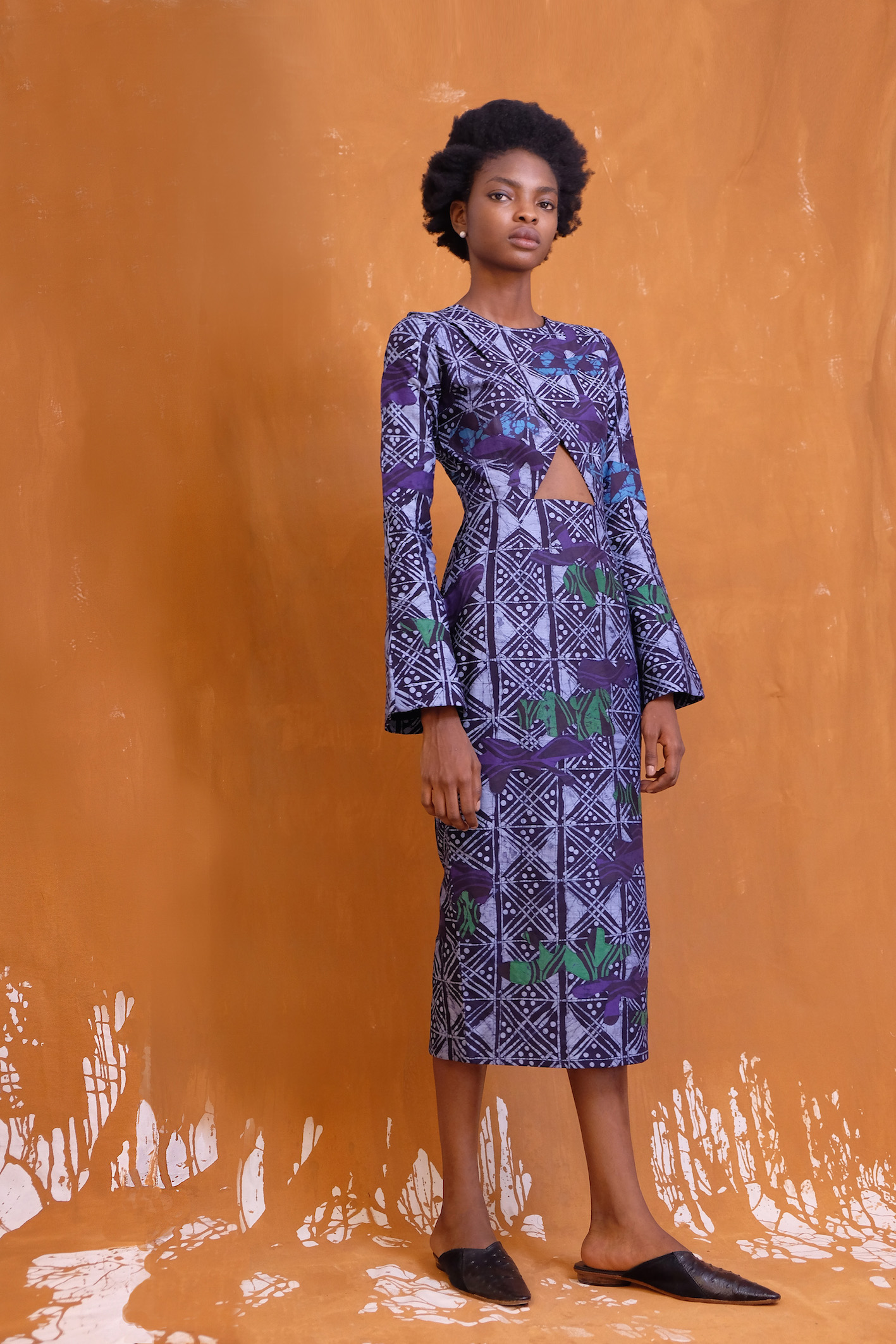 dedication-ceremony-lupita-nyongos-smithsonian-national-museum-of-african-american-history-and-culture-dedication-ceremony-maki-oh-fall-2017-adire-camouflage-dress-3