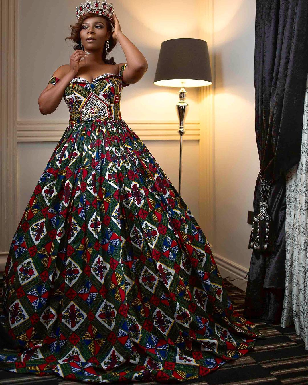 editorial-aderonke-adefalujo-celebrates-her-birthday-with-a-bdazzled-ankara-print-gown-and-crown-1