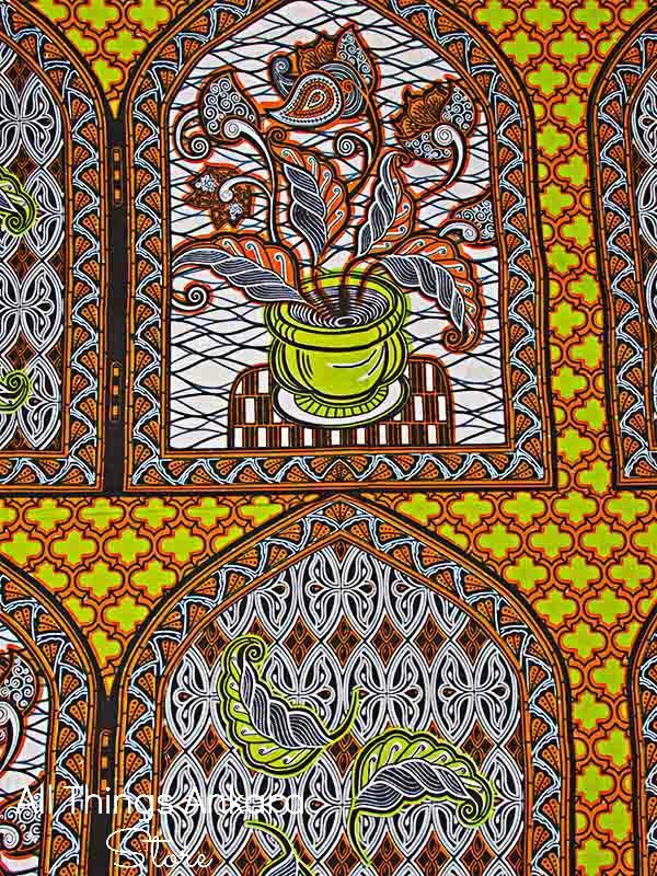 white-orange-lime-green-window-plant-wax-prints