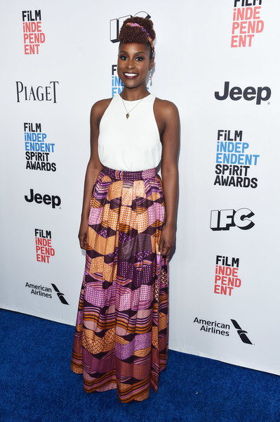 31e29f6b2 Brunch: Issa Rae's Leila Maxi Skirt by Omi Woods for the 2017 Film  Independent Filmmaker Grant And Spirit Award Nominees Brunch