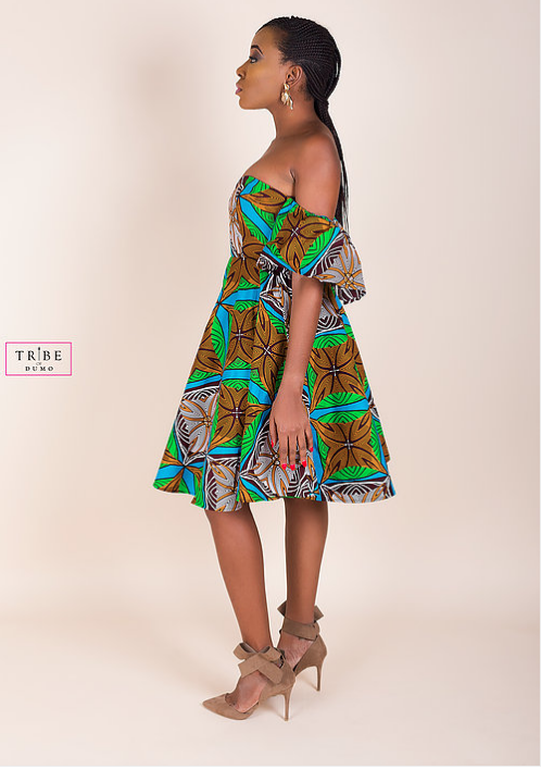 Ankara Product of the Day: Brown Tolani Sweetheart Dress by