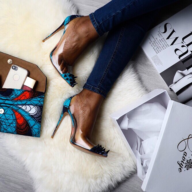 622443f74bc Ankara Product of the Day: Valentina African Print High Heels Shoes ...